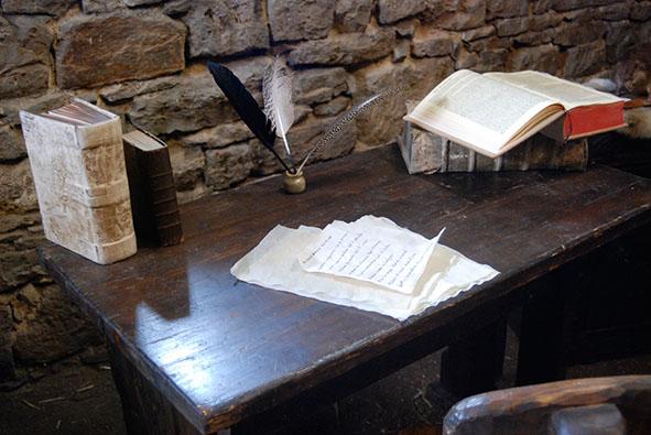 Schreibstätte eines Mönchs